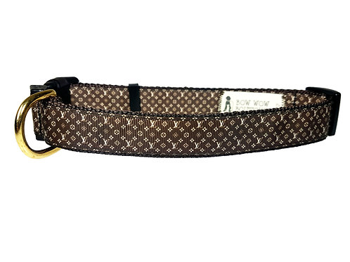 25mm Wide Louis Vitton Inspired Dog Collar