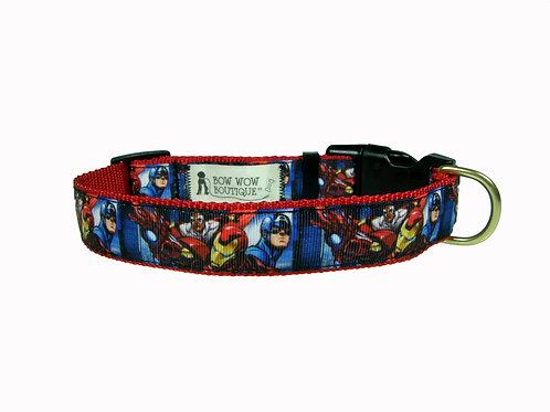 25mm Wide Avengers Dog Collar