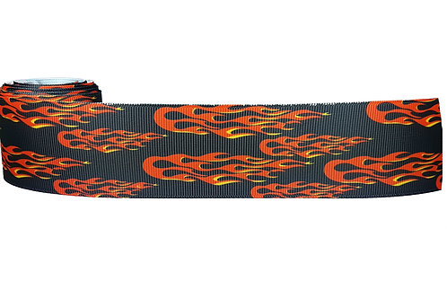 38mm Wide Racing Flames Martingale Collar