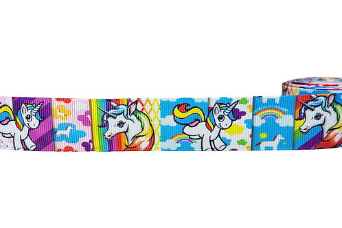 25mm Wide Unicorns Cartoon Double Ended Lead