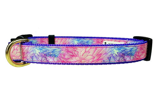 19mm Wide Pink & Purple Sketched Flowers Collar
