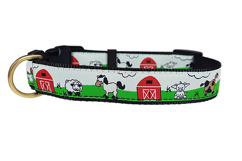 25mm Wide Farm Yard Dog Collar