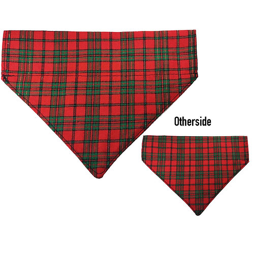Medium Christmas Tartan Bandana