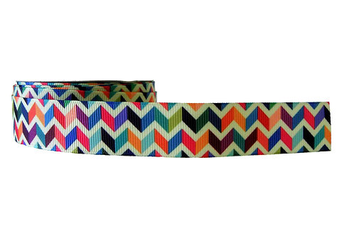 25mm Wide Multi Coloured Chevron Martingale Collar