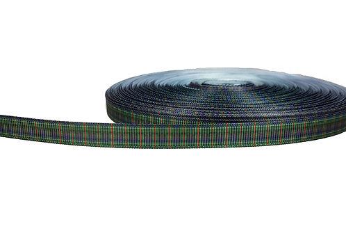 12.7mm Wide Green Tartan Double Ended Lead