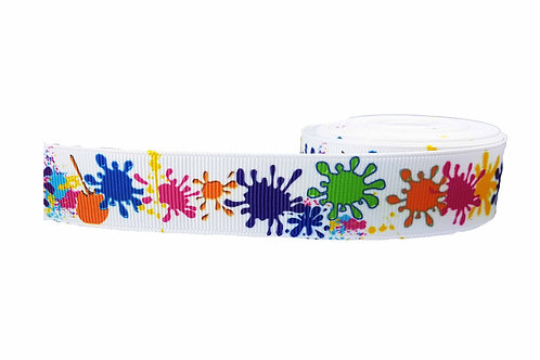 25mm Wide Paint Splatters Martingale Collar