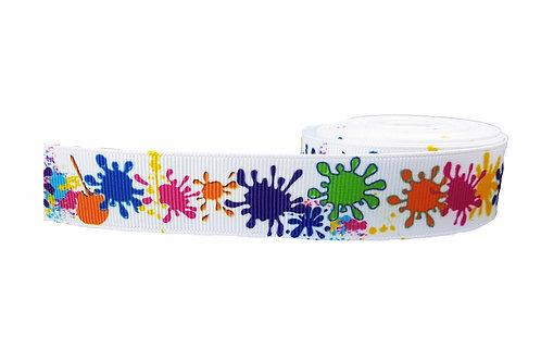 25mm Wide Paint Splatters Double Ended Lead