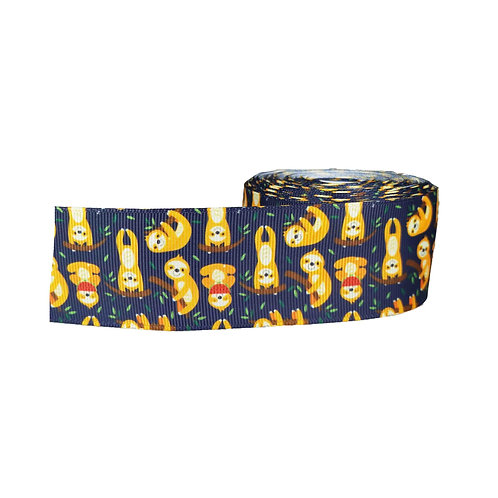 38mm Wide Sloths on Navy Blue Martingale Collar