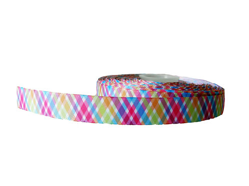 19mm Wide Pink Criss Coss Martingale Collar