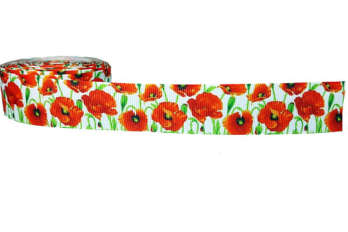25mm Wide Poppies Double Ended Lead