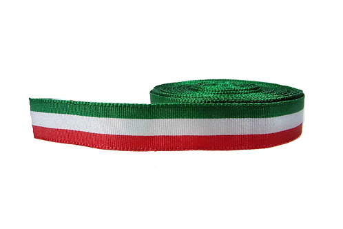 19mm Wide Italian Flag Martingale Collar