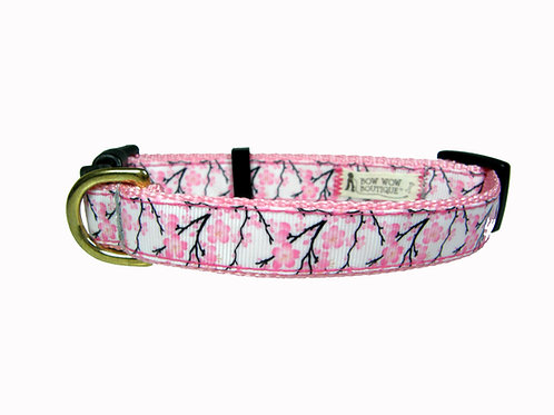19mm Wide Cherry Blossoms Collar