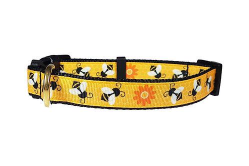 19mm Wide Honey Bees Collar