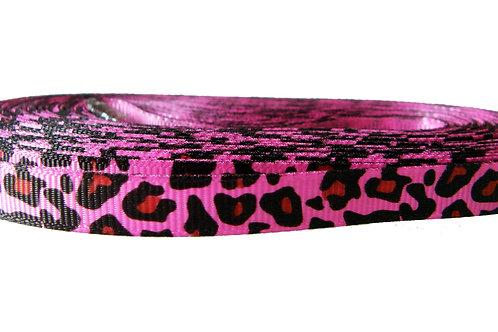 12.7mm Wide Pink Cheetah Print Lead