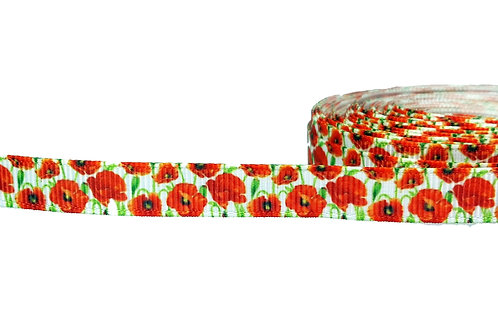 12.7mm Wide Poppies Double Ended Lead