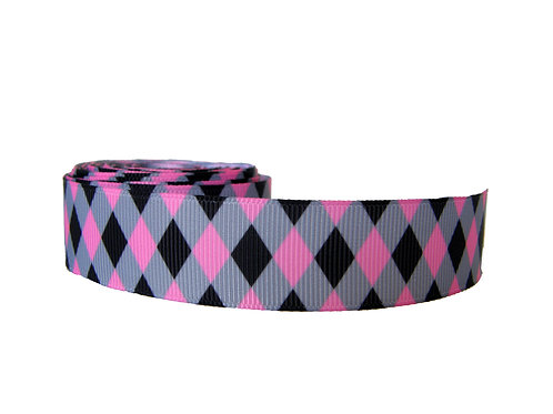 25mm Wide Pink Diamonds Double Ended Lead