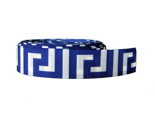 19mm Wide Blue Greek Key Lead
