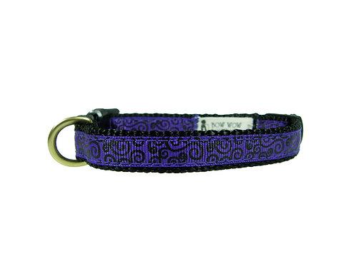 12.7mm Wide Purple w/ Black Filigree Collar
