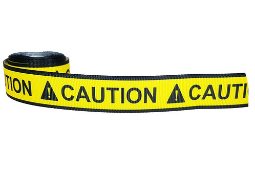 25mm Wide Caution! Dog Collar