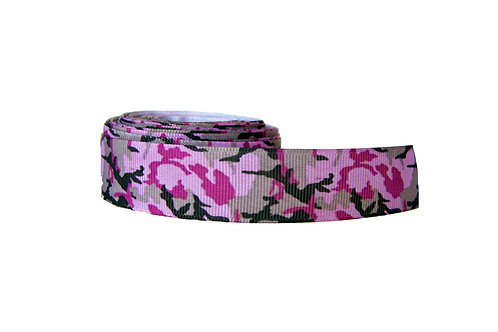 25mm Wide Pink Camo Martingale Collar