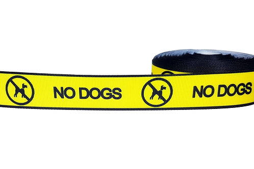 25mm Wide No Dogs! Martingale Collar
