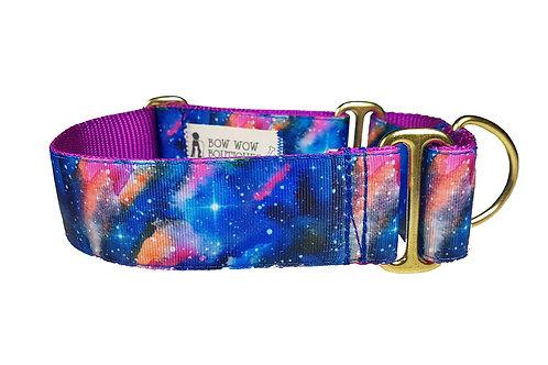 38mm Wide Stella Galaxy Martingale Dog Collar