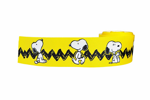 38mm Wide Snoopy Dog Collar