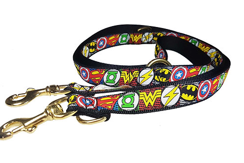 25mm Wide Super Hero Icons Double Ended Lead