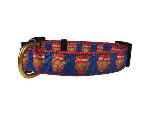 25mm Wide Arsenal FC Dog Collar