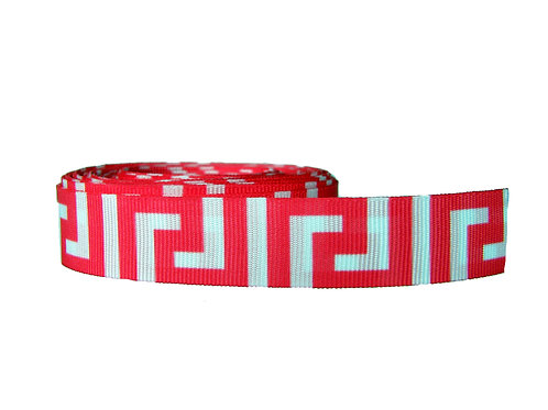 19mm Wide Pink Greek Key Martingale Collar
