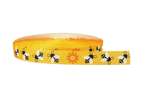 19mm Wide Honey Bees Martingale Collar