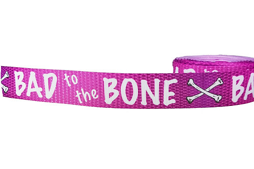 25mm Wide Pink Bad to the Bone Martingale Collar