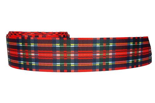 38mm Wide Red Tartan Martingale Collar