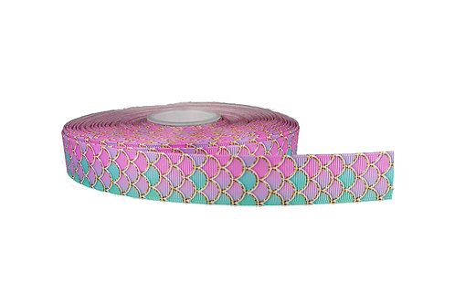 25mm Wide Pink Mermaid Martingale Collar