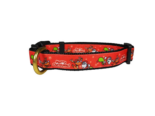 19mm Wide Merry Christmas Dog Collar