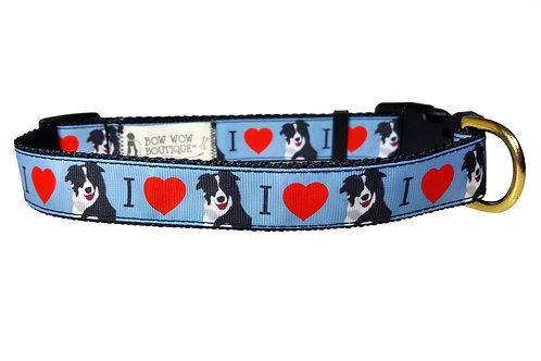 25mm Wide I Love my Border Collie Dog Collar