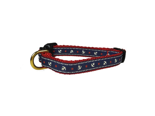 12.7mm Wide Anchors Dog Collar