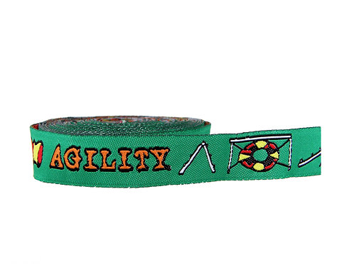19mm Wide Green Agility Martingale Collar