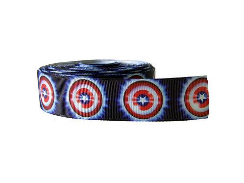 25mm Wide Captain America Dog Collar