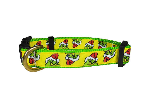 19mm Wide The Grinch Dog Collar