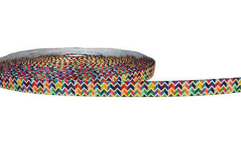 12.7mm Wide Multi Coloured Chevron Double Ended Lead