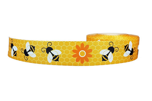 25mm Wide Honey Bees Double Ended Lead
