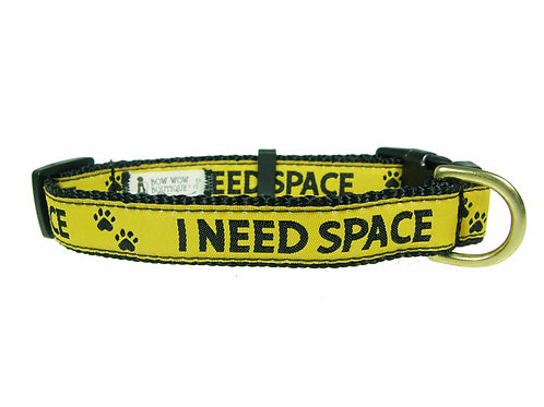 19mm Wide I NEED SPACE Dog Collar
