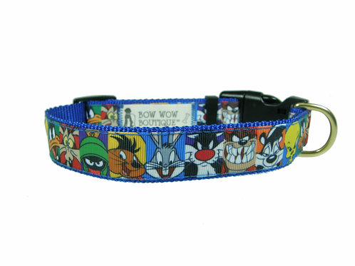 25mm Wide Looney Tunes Dog Collar
