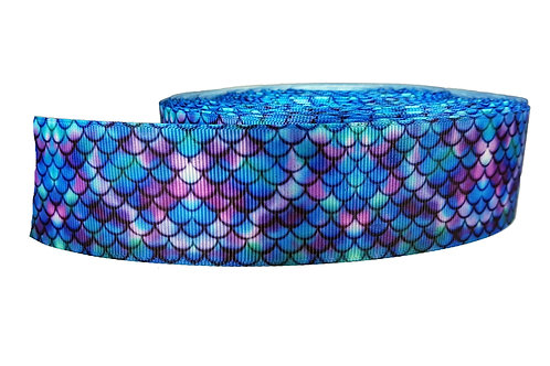 38mm Wide Purple Mermaid Martingale Collar