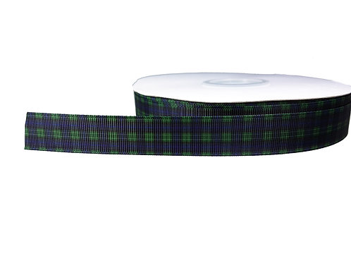19mm Wide Green/Blue Tartan Martingale Collar