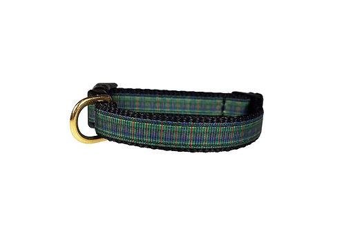 12.7mm Wide Green Tartan Collar