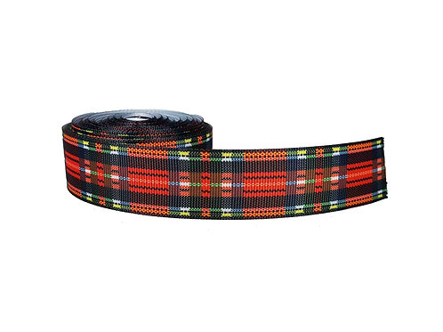25mm Wide Red Tartan Double Ended Lead