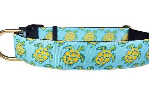 38mm Wide Sea Turtles Dog Collar