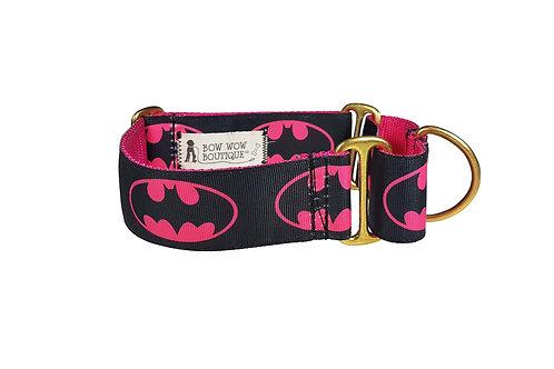 38mm Wide Batgirl Martingale Dog Collar